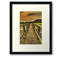 Aberlady Bridge Sunset Framed Print