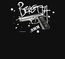 Beretta 9mm Pistol -white script Unisex T-Shirt