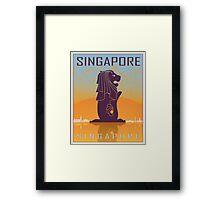 Singapore vintage poster Framed Print