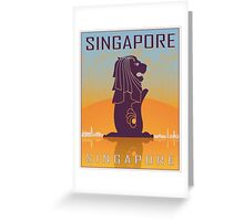 Singapore vintage poster Greeting Card