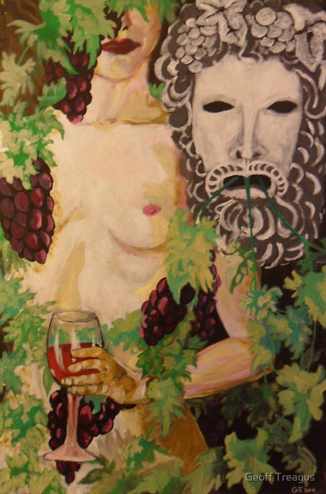 Figure and Mask no.4: Dionysus by Geoff Treagus