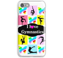 BUTTERFLY I LOVE GYMNASTICS DESIGN iPhone Case/Skin