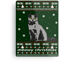 cat ugly christmas sweater Metal Print