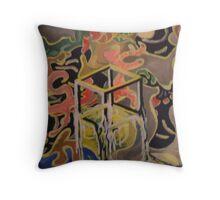 When Dali and Escher Met Throw Pillow
