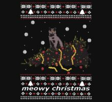 ugly sweater - christmas tree knocked down by a cat by FandomizedRose