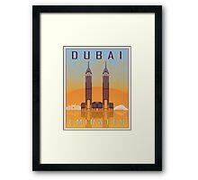 Dubai vintage poster Framed Print