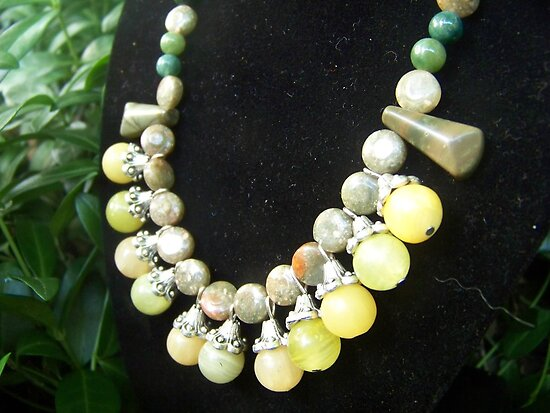 Earth Tones in Gem Stones by Valeree