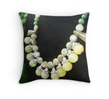 Earth Tones in Gem Stones Throw Pillow