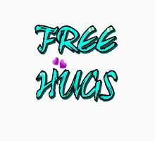 FREE HUGS TXT Womens Fitted T-Shirt