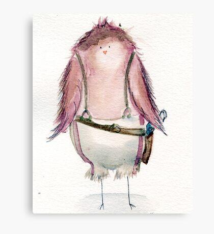 Capt. Macaw Reynolds- Firefly Nerdy Birdy Canvas Print