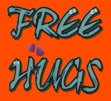 FREE HUGS TXT Kids Tee