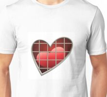 heart in jail drawn in cartoon style Unisex T-Shirt
