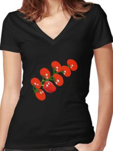 Stop looking at me, Please. Thanks! Women's Fitted V-Neck T-Shirt