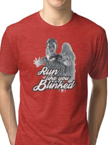 Weeping Angel Run Like You Blinked Doctor Who Tri-blend T-Shirt