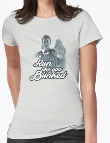 Weeping Angel Run Like You Blinked Doctor Who Womens Fitted T-Shirt