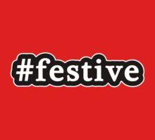 Festive - Hashtag - Black & White Kids Tee