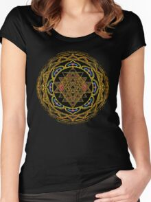 Ultimate Wealth Mandala Women's Fitted Scoop T-Shirt
