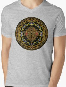 Ultimate Wealth Mandala Mens V-Neck T-Shirt