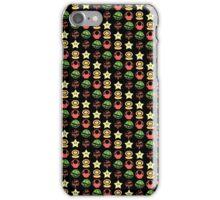 Coloured mario items  iPhone Case/Skin