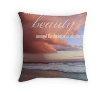 Beauty Amongst The Storm Throw Pillow