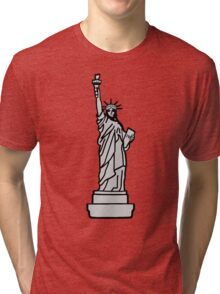 American Statue of Liberty Tri-blend T-Shirt