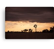 Sunset over North West NSW Canvas Print
