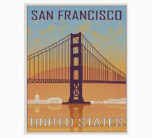 San Francisco vintage poster One Piece - Short Sleeve