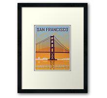 San Francisco vintage poster Framed Print