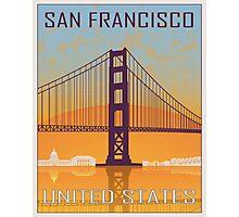 San Francisco vintage poster Photographic Print
