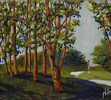 Plein Aire on the Golf Course by Jim Phillips