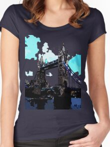 London Tower Bridge UK Women's Fitted Scoop T-Shirt