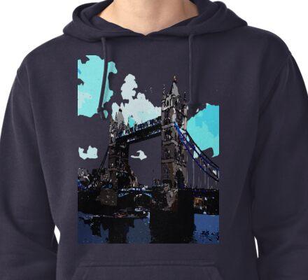 London Tower Bridge UK Pullover Hoodie