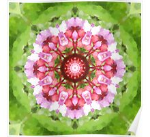 Lilac, Pink and Green Kaleidoscope Poster