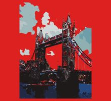 London Tower Bridge UK Kids Tee