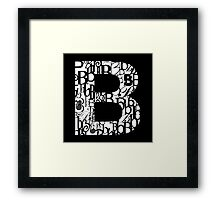 The Letter B, black background Framed Print