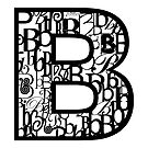 The Letter B, white background by Julie Hartman