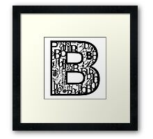 The Letter B, white background Framed Print