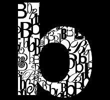 Small Letter B, black background by Julie Hartman