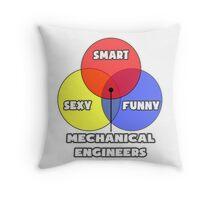 Venn Diagram - Mechanical Engineers Throw Pillow