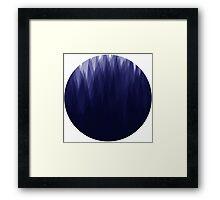 Shady Landscape (Blue) Framed Print