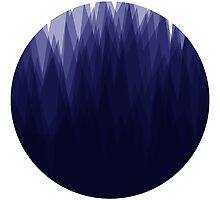 Shady Landscape (Blue) Photographic Print