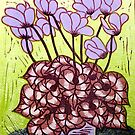 Cyclamen  by marlene veronique holdsworth