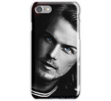 Sam Heughan black and white iPhone Case/Skin