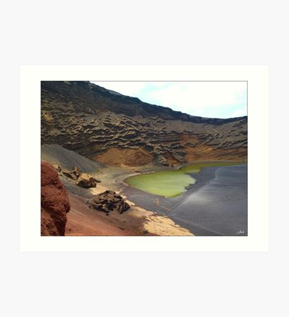 Green Crater lake Art Print