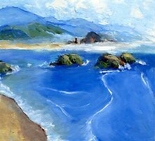Misty Bodega Bay by Randy Sprout