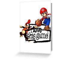 Mario Diddy Kong Greeting Card