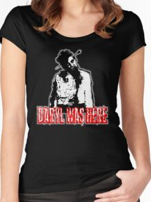 Daryl Was Here! Women's Fitted Scoop T-Shirt