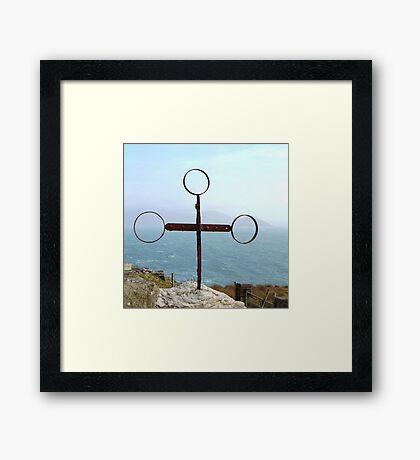 Iron Cross - Cill Railiag, Co Kerry, Eire Framed Print