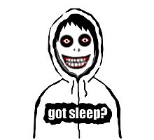 Jeff The Killer Got Sleep? Photographic Print