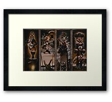Halloween Haunted Mansion/Haunted House Stretching Portraits Framed Print